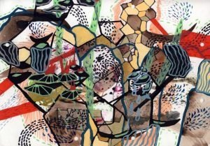 Black Magic/Organic Growth collaborative drawing by Trine Pedersen + Tero Kontinen